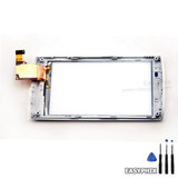 Sony Ericsson Xperia X10 Digitizer Touch Screen White with Frame