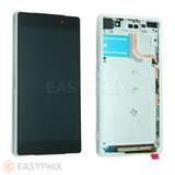 Sony Xperia Z2 LCD and Digitizer Touch Screen Assembly with Frame [White]