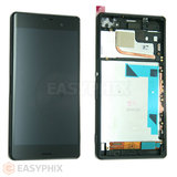 Sony Xperia Z3 LCD and Digitizer Touch Screen Assembly with Frame [Black]
