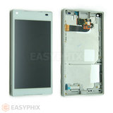 Sony Xperia Z5 Compact Touch Screen and LCD Assembly with Frame [White]