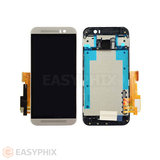 HTC One M9 LCD and Digitizer Touch Screen Assembly with Frame [Silver]