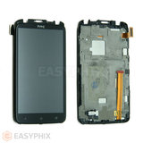 HTC One X LCD and Digitizer Touch Screen Assembly with frame