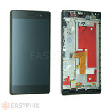 Huawei Ascend P7 LCD and Digitizer Touch Screen Assembly With Frame [Black]