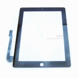 Digitizer Touch Screen with Adhesive Tape for iPad 3 4 (High Quality) [Black]