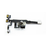 Headphone Audio Jack Volume Mute/Slient Switch Button Flex Cable [White] for iPhone 4S