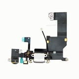 Charging Port USB Connector Dock Headphone Jack Flex Cable [White] for iPhone 5G