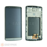 LG G3 D855 LCD and Digitizer Touch Screen Assembly with Frame [Black]