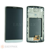 LG G3 D855 LCD and Digitizer Touch Screen Assembly with Frame [White]