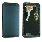 Motorola Nexus 6 LCD and Digitizer Touch Screen Assembly with Frame [Black]