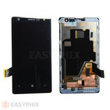 Nokia Lumia 1020 LCD and Digitizer Touch Screen Assembly with Frame [Black]