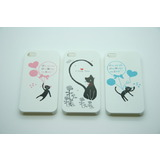 Iglaze Cat Back Case Cover for iPhone 4 4S