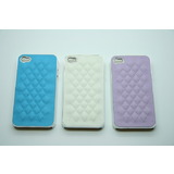 Iglaze Leather Back Case Cover for iPhone 4 4S
