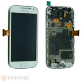 Samsung Galaxy S4 Mini I9195 LCD and Digitizer Touch Screen Assembly with Frame [White]