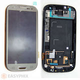 Samsung Galaxy S3 4G I9305 LCD and Digitizer Touch Screen Assembly with Frame [Grey]