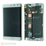 Samsung Galaxy Note Edge N915G LCD and Digitizer Touch Screen Assembly with Frame [White] (High Quality)