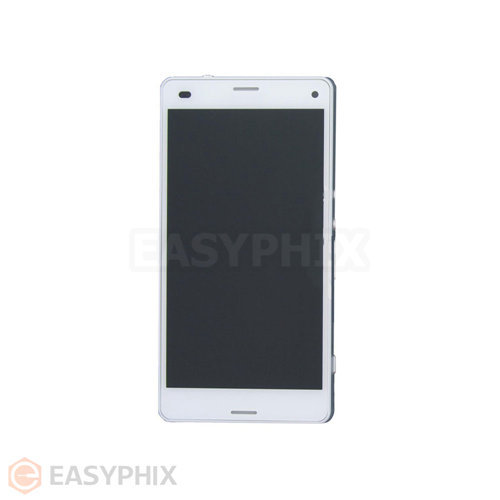 Sony Xperia Z3 Compact Touch Screen and LCD Assembly with Frame [White]