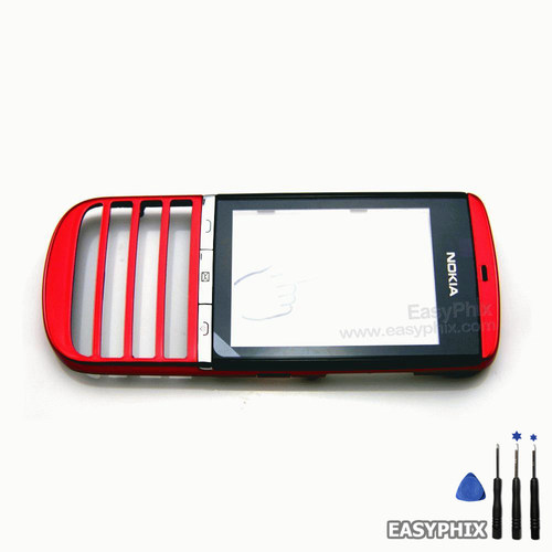 Nokia Asha 300 Digitizer Touch Screen with Frame [Red]