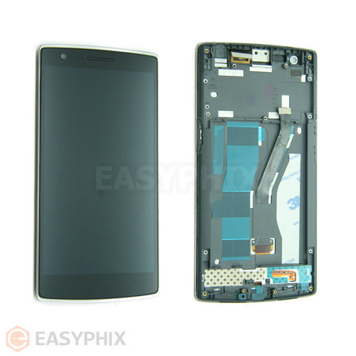 Oneplus One LCD and Digitizer Touch Screen Assembly with Frame [Black]