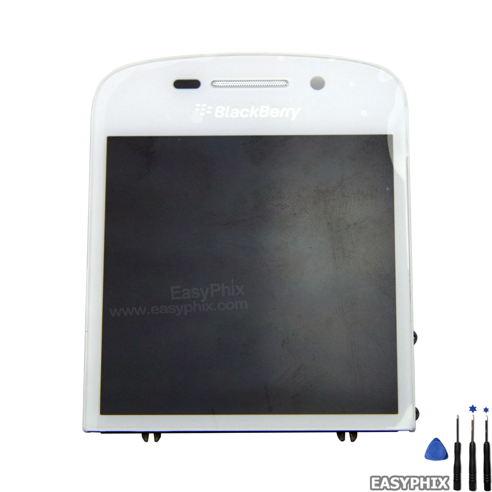Blackberry Q10 Lcd And Digitizer Touch Screen Assembly With Frame White 001