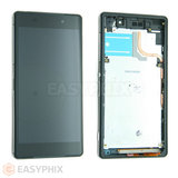 Sony Xperia Z2 LCD and Digitizer Touch Screen Assembly with Frame [Black]