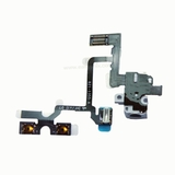 Headphone Audio Jack Volume Mute/Slient Switch Button Flex Cable [White] for iPhone 4G