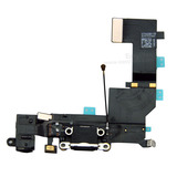 Charging Port USB Plug In Connector Dock Headphone Jack Flex Cable [Black] for iPhone 5S