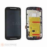 Motorola Moto G2 XT1068 LCD and Digitizer Touch Screen Assembly with Frame [Black]