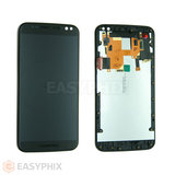 Motorola Moto X Style LCD and Digitizer Touch Screen Assembly with Frame [Black]