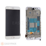 Oppo R11 LCD and Digitizer Touch Screen Assembly with Frame (Aftermarket) [White]