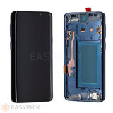 LCD and Digitizer Touch Screen Assembly with Frame for Samsung Galaxy S9 G960 (Refurbished) [Blue]