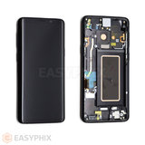LCD and Digitizer Touch Screen Assembly with Frame for Samsung Galaxy S9 Plus G965 (High Copy) [Black]