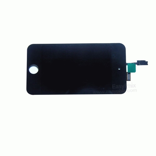 LCD and Digitizer Touch Screen Assembly [Black] with Adhesive Tape for iPod Touch 4th